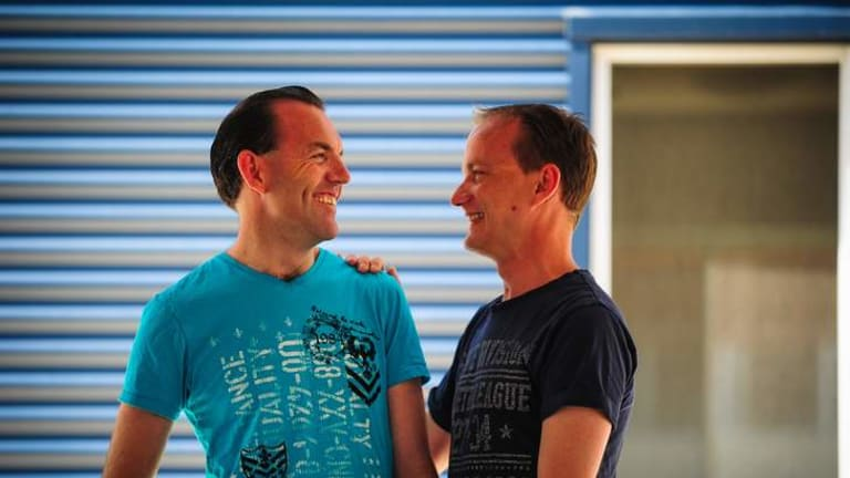 (left) Joel Player and Alan Wright will be amongst the first Australian same sex couples to tie the knot on the 7th of December in Canberra.