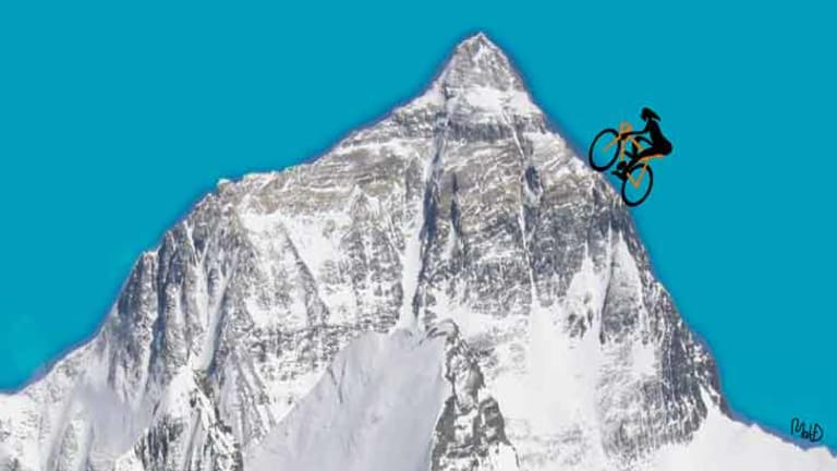 Is 'everesting' the sternest physical challenge a cyclist can face? <i>Illustration: Matt Davidson</i>
