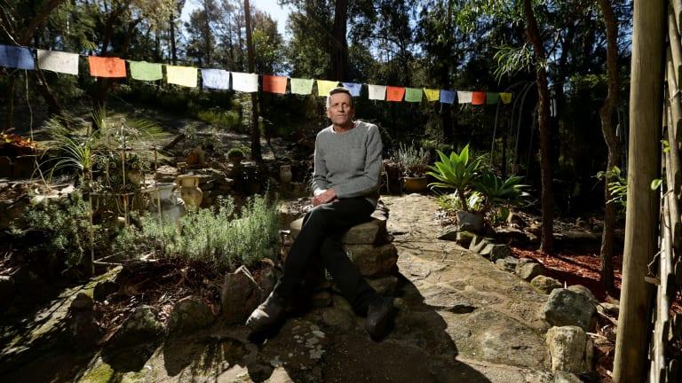 Sanctuary: Graham Rundle in his garden.