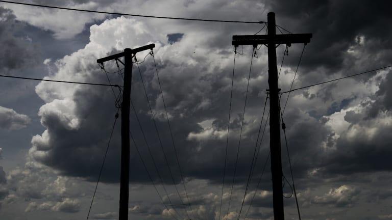 Storms begin to erupt across the Hawkesbury region.