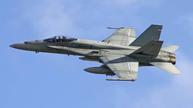 Military assets: Super Hornet fighter jets will be deployed, along with special forces soldiers and 400 air support personnel. This image shows a Classic Hornet.