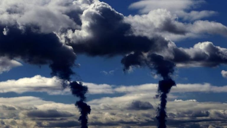 Dark clouds: Carbon emissions from the power sector are back on the way up.
