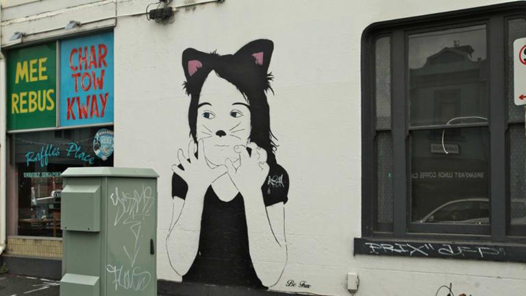 Wellington Street mural by street artist Be Free.