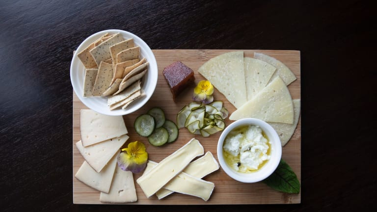 Cheese board with house pickles. Photo: Sitthixay Ditthavong