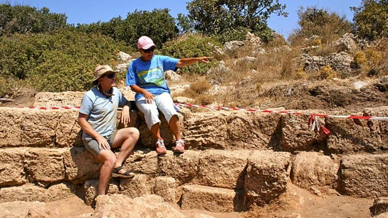 Michael Bendon and Elpida Hadjidaki on Crete.