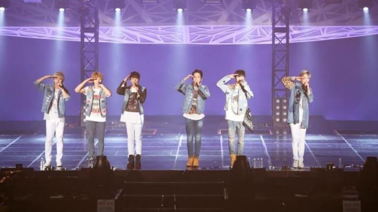 South Korea's B.A.P., live in Seoul in 2014.
