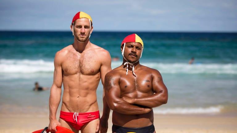 Highlights of <i>Black Comedy</I>'s series three include ocean-avoiding lifesaver the Bondi Blackfella.