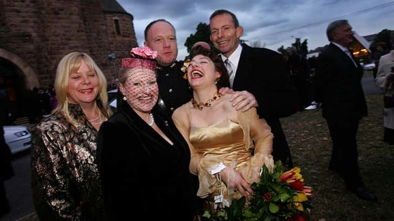 Tony Abbott helped celebrate then parliamentary colleague Sophie Mirabella's wedding to husband Gregory in 2006.