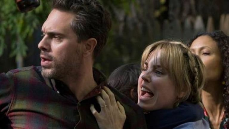 US version of <i>The Slap</i>: Thomas Sadoski as Gary and Melissa George as Rosie at the 40th party where the slap occurs.