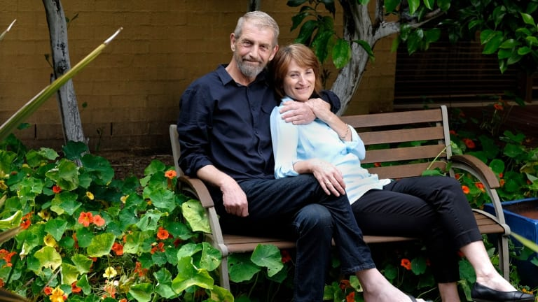 Ray Godbold and wife Robyn in November.