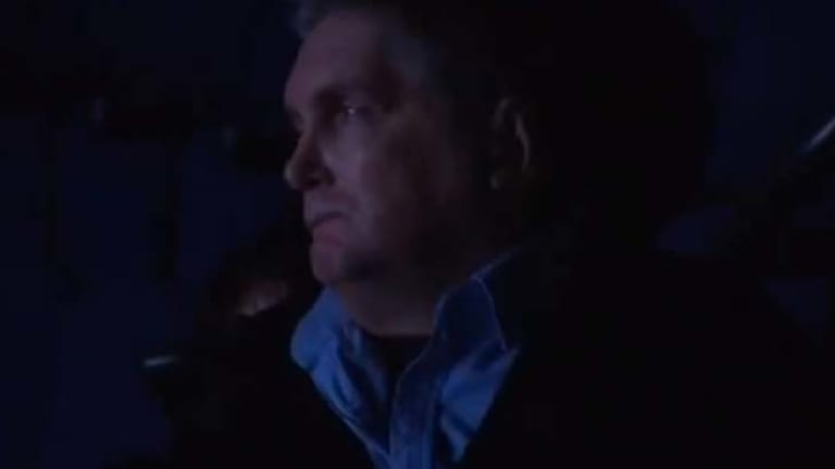 A backward glance ... Jon Blake at a screening of his 1987 movie <i>The Lighthorsemen</i> just weeks before he died.