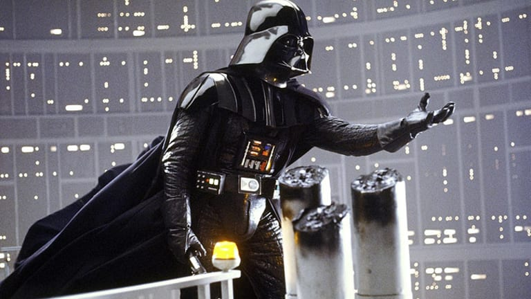 """The words behind the voice behind the mask ... Lawrence Kasdan wrote the immortal """"I am your father"""" by Darth Vader in <i>Star Wars Episode V: The Empire Strikes Back</i>."""