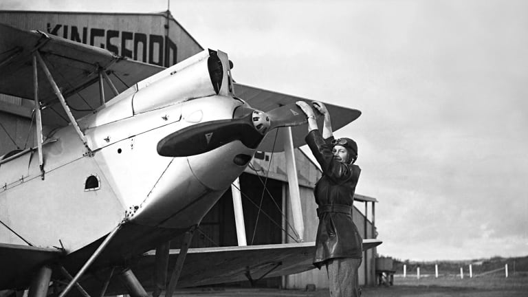The program will be named after pioneering pilot Nancy Bird Walton, pictured with her plane  in 1934.