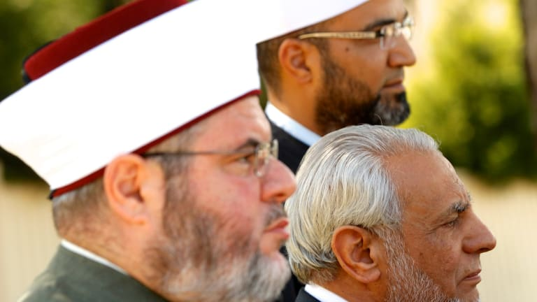 The Grand Mufti of Australia, Dr Ibrahim Abu Mohammed (right), and Sheikh Yahya Safi (left), of the Lakemba mosque, have backed a fatwa against Islamic State.