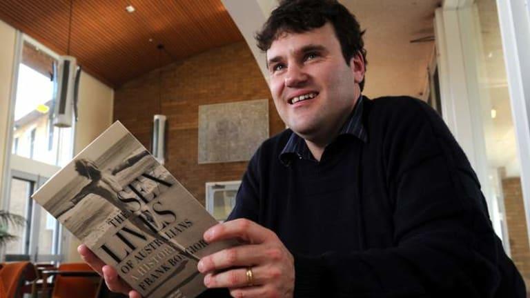 Award-winning: Frank Bongiorno, with his latest book <em> Sex Lives of Australians: A History.</em>