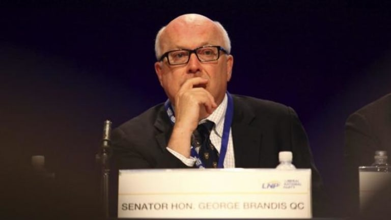 Rebuffed by the International Court of Justice: Attorney General George Brandis authorised the raid on East Timor's Australia lawyer Bernard Collaery.