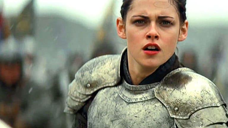 "Kristen Stewart stars in ""gritty medieval thriller"" <i>Snow White and the Huntsman</i>."