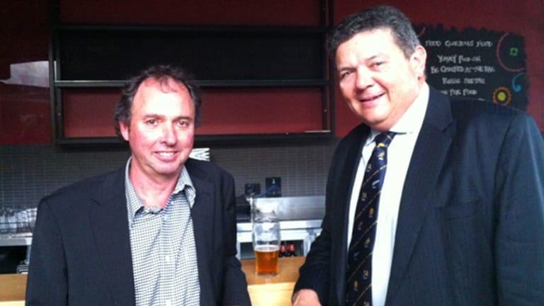 Little Word Beverages founding shareholder and director Howard Cearns and chairman Ian Cochrane.