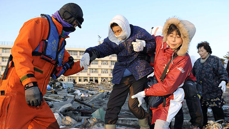 In Sendai - one of the worst-hit areas - residents of the port city of about 1 million people helped each other get to shelters or flee their destroyed homes.