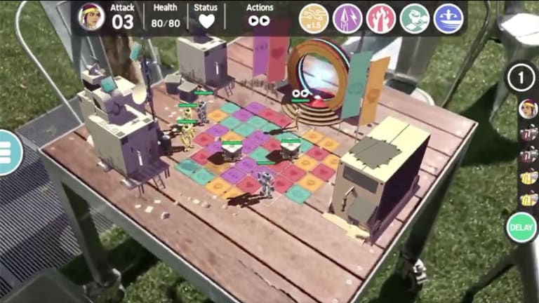 <i>Ticket To Earth</i> supports AR mode so you can bring the game to life on any surface.