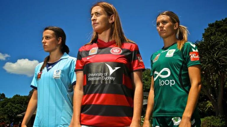 Launch: Team captains Heather Garriock, Chloe Logarzo and Stephanie Ochs.