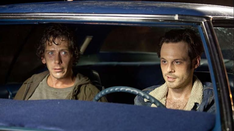 Juicy role ... Ben Mendelsohn as Russell and Scoot McNairy as Frankie in <i>Killing Them Softly</i>.