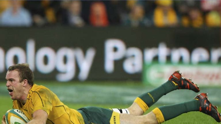 Slide rules … Pat McCabe's Wallabies stocks continue to rise.