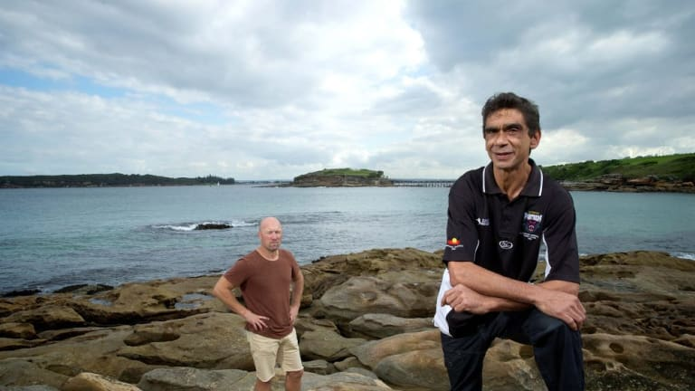 History hotspot: Tim Ella and Grant Hyde have teamed up to introduce people to the story of La Perouse and Captain's Cook landing.
