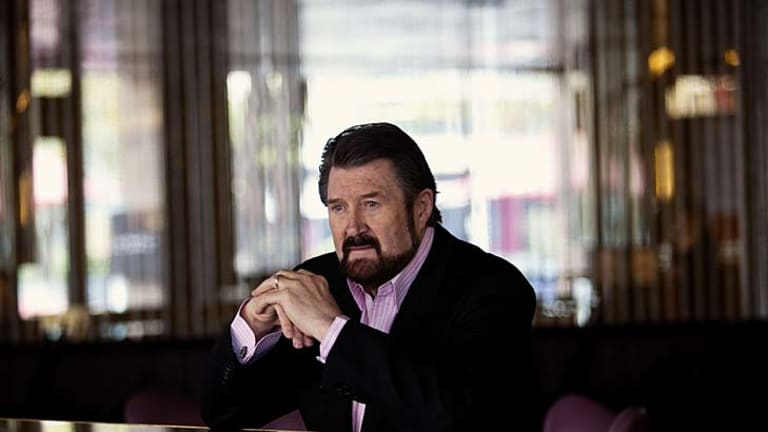 Derryn Hinch: A picture of health yesterday at Melbourne's Royce Hotel, but without a liver transplant he is just three months from dying.