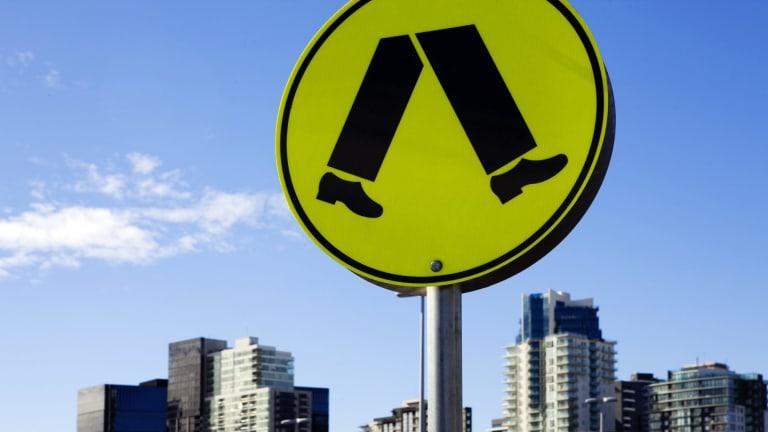 A study has identified Melbourne's most hazardous spots for pedestrians.
