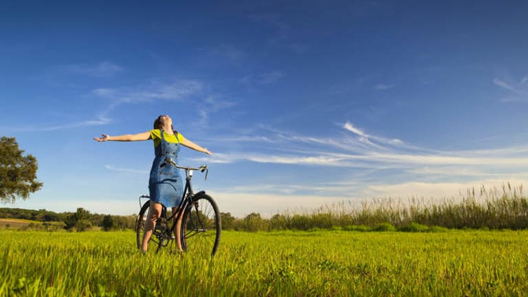 """Getting outside"" ... exercise, fun and enjoyment are cited as some of cycling's many attractions."