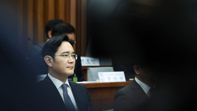 Jay Y. Lee, co-vice chairman of Samsung Electronics, was on Friday convicted of bribery and sentenced to five years in prison.