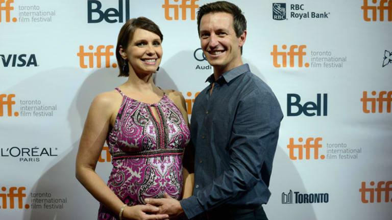 Tasma Walton and husbane Rove McManus on the red carpet at the Toronto International Film Festival.