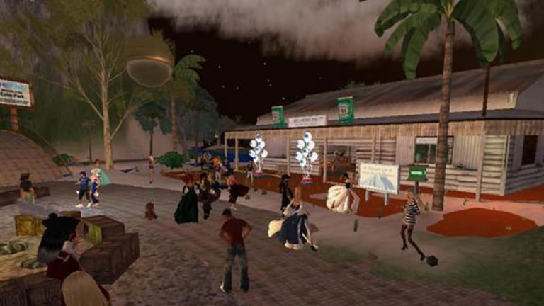 In busier times ... The Australia Day celebrations on BigPond's Second Life island.