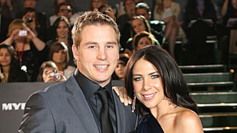 Wedding news ... Stuart Webb and Kate Ritchie.
