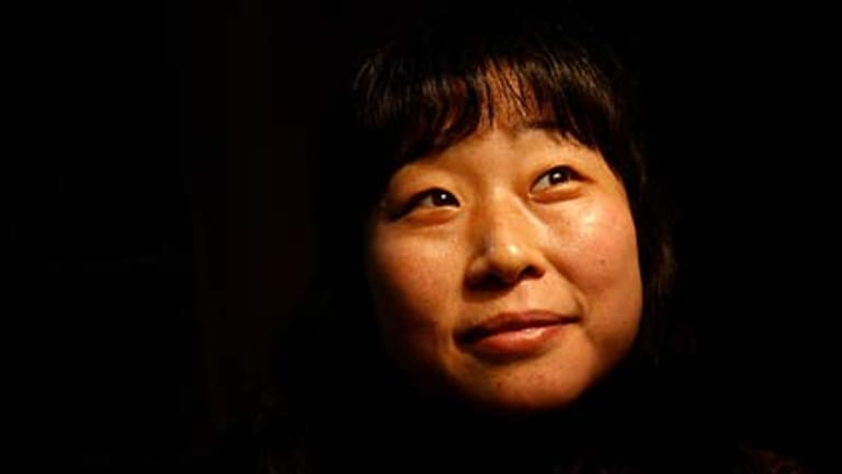 Megumi Ogawa ... pictured in Villawood detention centre in 2006.