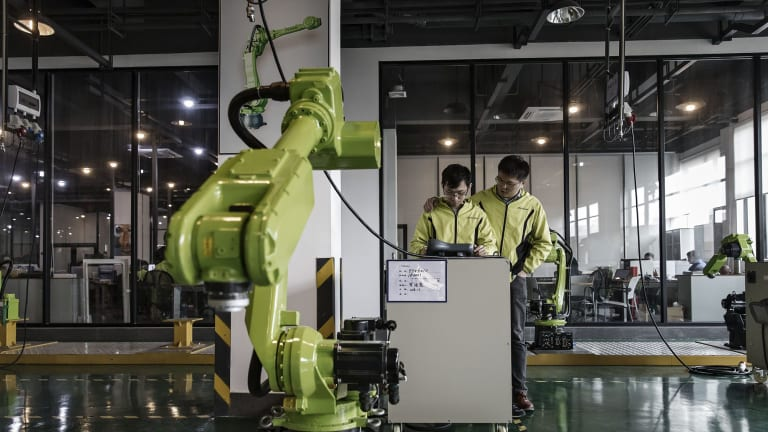 China's manufacturing sector has been expanding for 25 straight months but the growth declined in June and July.