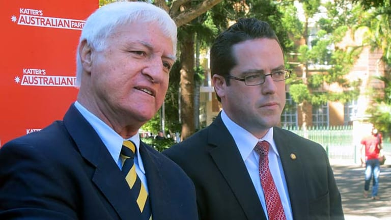 Bob Katter and Aidan McLindon: No formal Australian Party policy as yet on abortion.