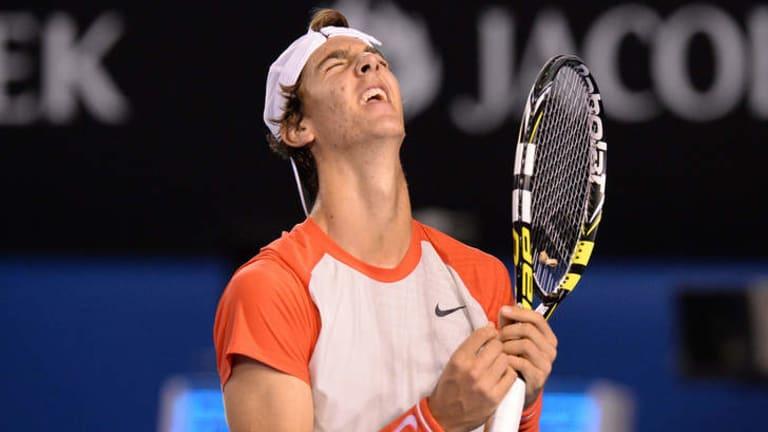 Australia's Thanasi Kokkinakis couldn't match the power of Rafael Nadal.