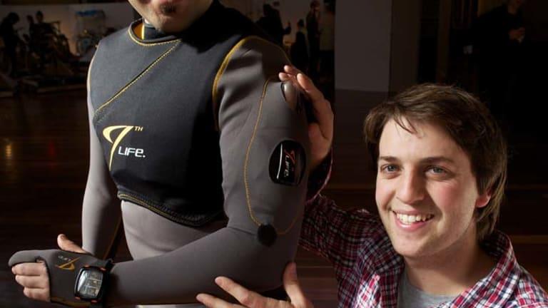 Chris Fox ... with his award-winning lifejacket, 9th Life.