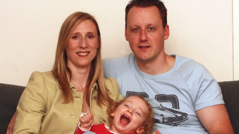 Karen Jepp and Shane Hill with their daughter Sierra Rose, who has severe cerebral palsy.