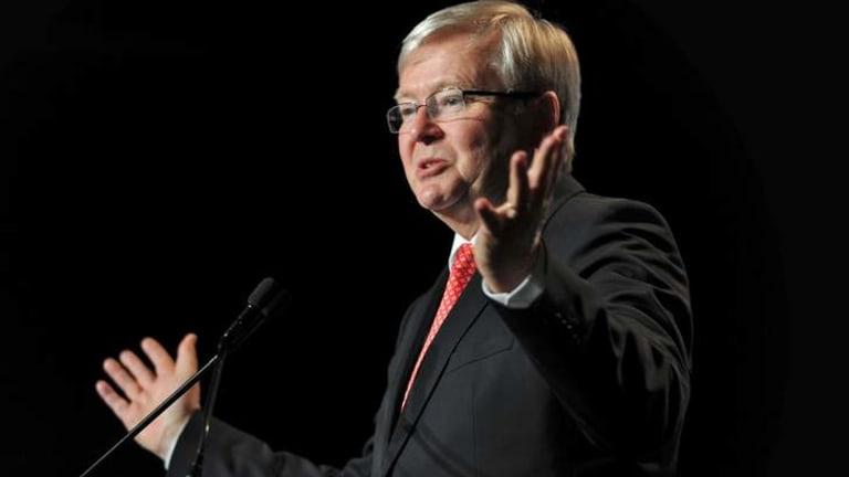 Subject to media bias: Kevin Rudd.