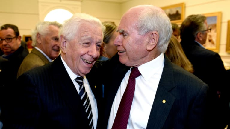 Links: Frank Lowy with his good friend, former prime minister John Howard.