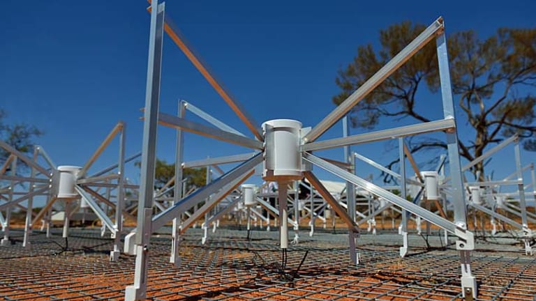 The Murchison Widefield Array radio telescope.