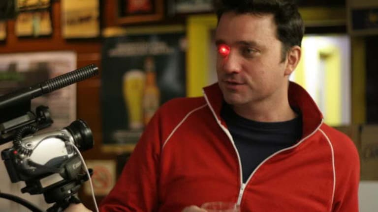 One of Spence's prototypes has a red LED light to make him look like the cyborgs in the film Terminator.