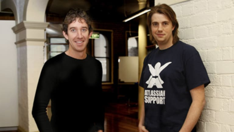 There are plenty of other Aussie start-ups hoping to emulate the $60 million success of Atlassian co- founders Scott Farquhar (left) and Mike Cannon-Brookes.