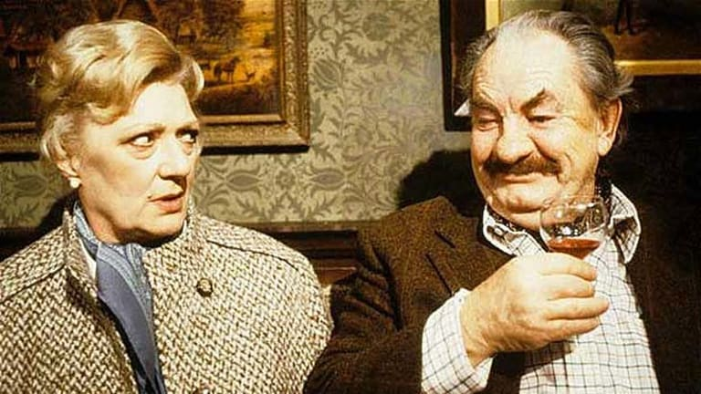 A life sentence … Marion Mathie and on-screen barrister husband Leo McKern in Rumpole of the Bailey.