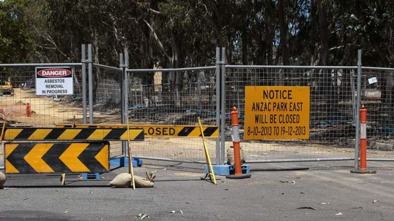 DANGEROUS: The Campbell asbestos site.