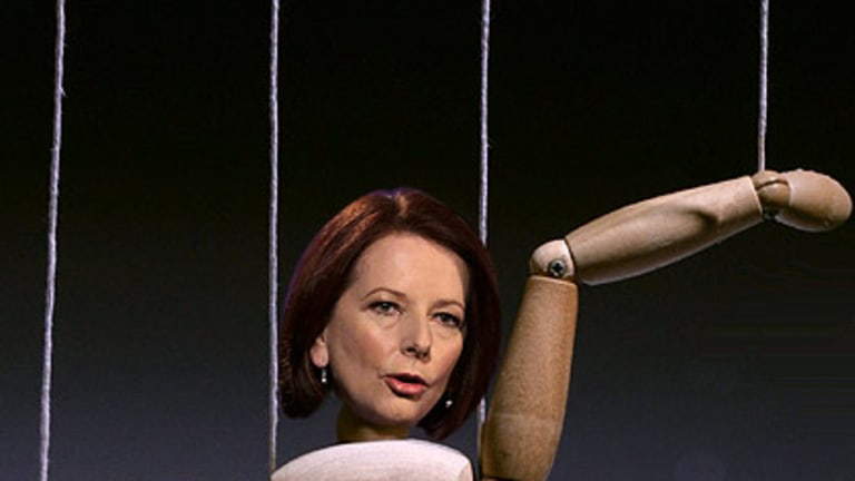 The 'real Gillard' has been unleashed. So who has been running the campaign up to now? <I>Graphic: Liam Phillips</i>