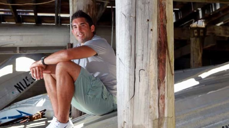 Braith's hideaway ...  Roosters captain Braith Anasta relaxes  underneath his family's  restaurant, the Boatshed, in La Perouse. He plans to devote more time to it after football.